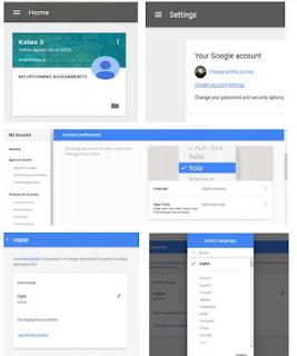 Cara Mengganti Bahasa di Google Classroom