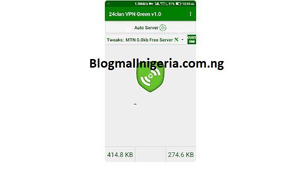 MTN Free Browsing Cheat Using 24Clan VPN Green Edition