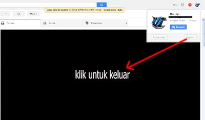 cara mudah keluar atau logout dari akun gmail