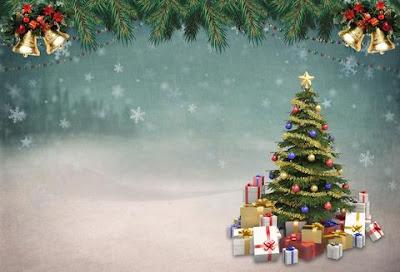 Christmas Card Idea with Xmas Tree Decor