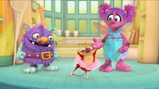 Abby's Flying Fairy School Sugar Plum Fairy Day, Abby Cadabby, Blögg, Niblet, Sesame Street Episode 4321 Lifting Snuffy season 43