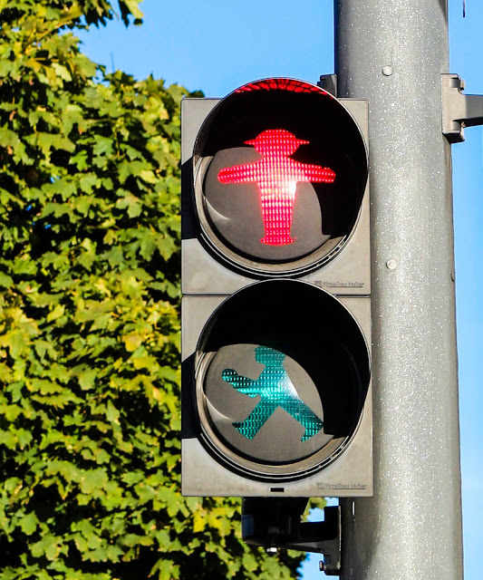 Pedestrian Crosswalk light in Berlin