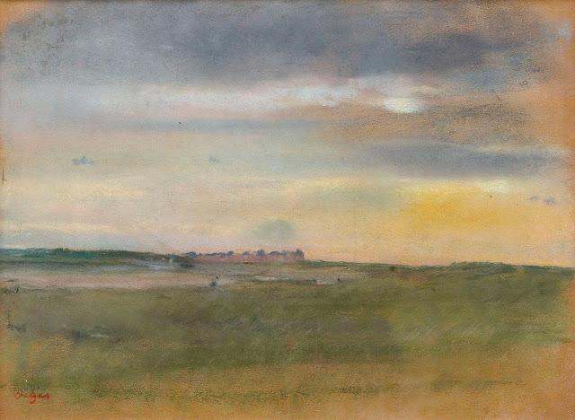 Эдгар Дега - Пейзаж на закате (1869)