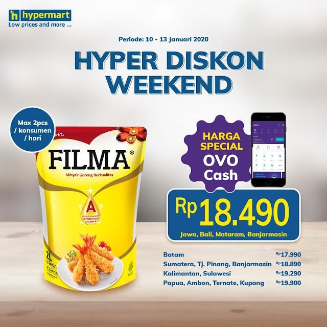 #HYpermart - #Promo Hyper Diskon Weekend Minyak Filma 2Lt Pakai OVO Cash (s.d 13 Jan 2020)