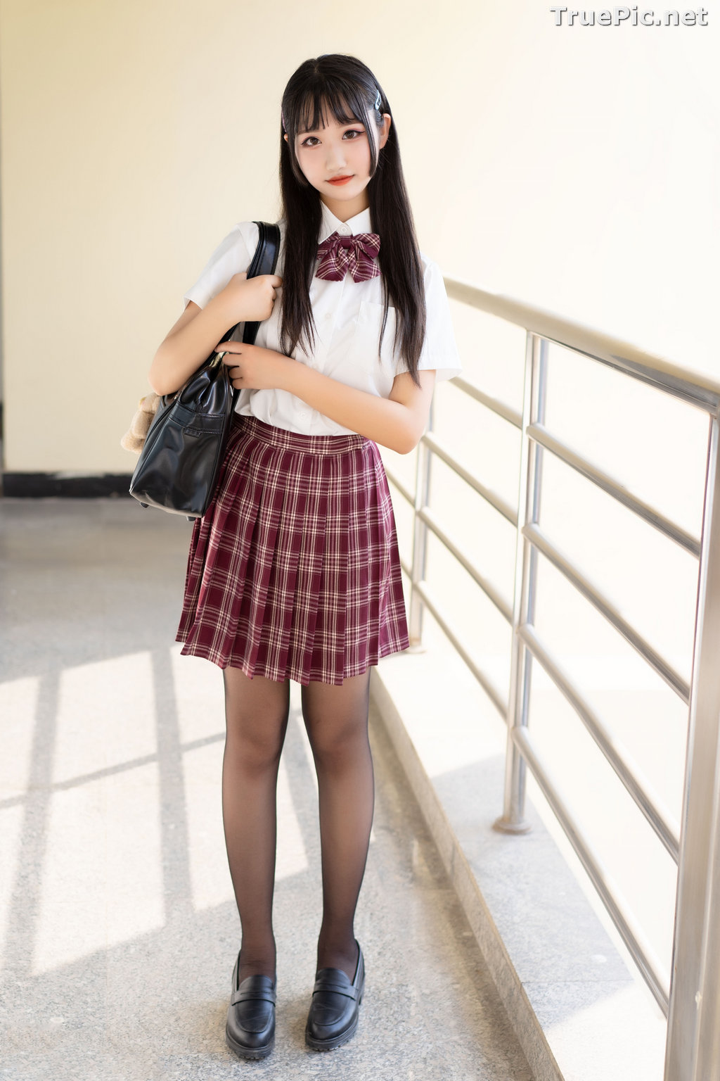 Image [MTCos] 喵糖映画 Vol.023 – Chinese Cute Model – Long Hair JK Girl - TruePic.net - Picture-5
