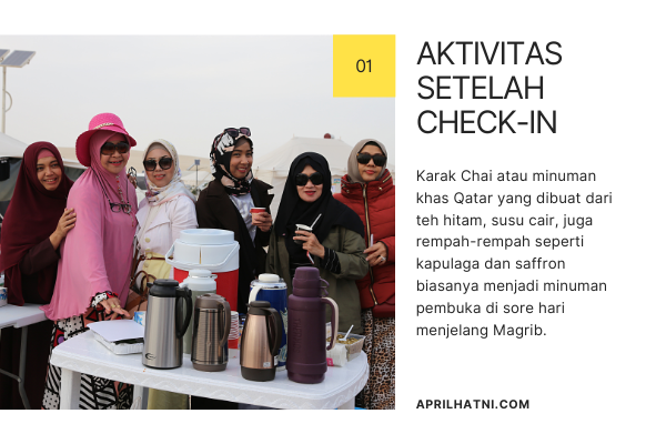 minum karak chai di sarab camp