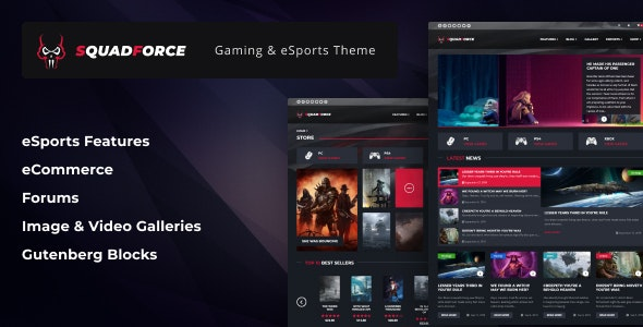Premium eSports Gaming WordPress Theme