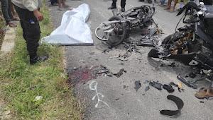 Miris, 2 Anak Muda Tewas Akibat Tabrakan Sepeda Motor di Samosir