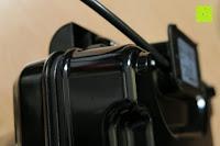 unten Seite: Waffeleisen Belgisch für 4 belgische Waffeln,XXL Waffelautomat,brüssler Doppel,Thermostat, stufenlose Temperatureinstellung, Backampel, Cool-Touch Griff