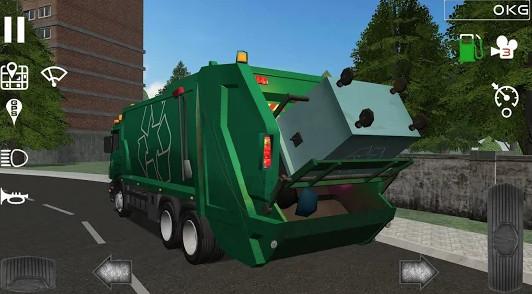 لعبة محاكي شاحنة القمامة