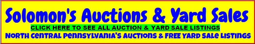 Solomon's Auction & Yard Sale Page