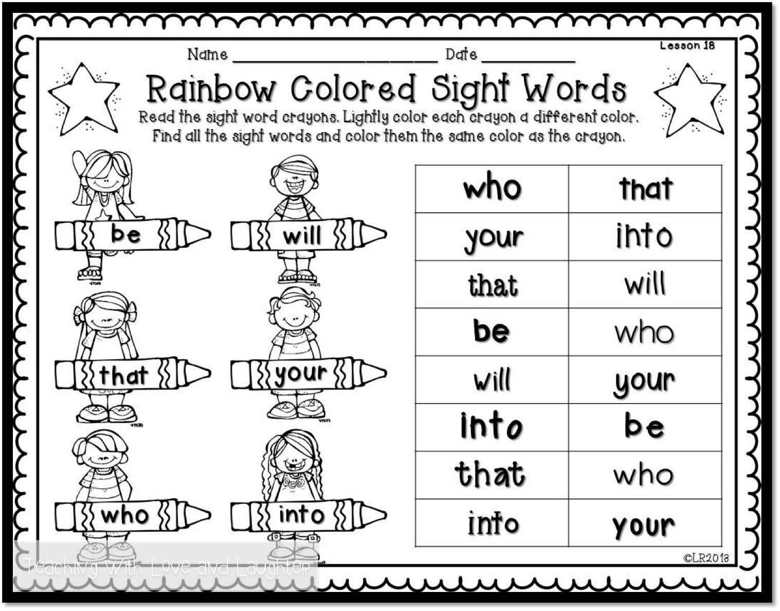 Teaching With Love And Laughter Beginning Sounds And Sight Words