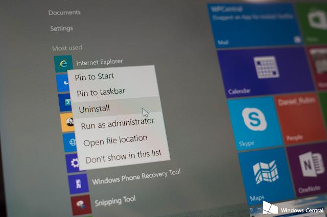 طريقة حذف البرامج الافتراضية فى ويندوز Windows 10 App Remover  10