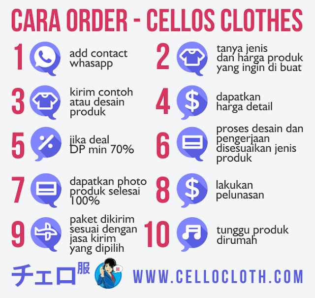 cara order - cellos clothes