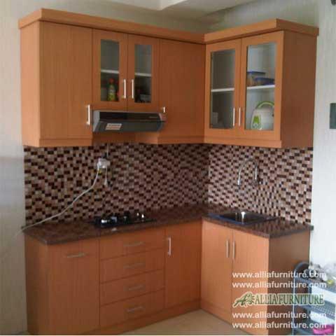 kitchen set minimalis bentuk L model palm