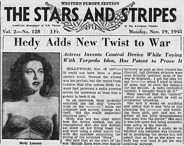 Hedy Lamarr discussed in Stars and Stripes worldwartwo.filminspector.com