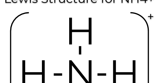 The Lewis Dot Structure For Nh4 Makethebrainhappy
