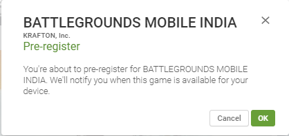 How to Register for Battleground Mobile India Step By Step