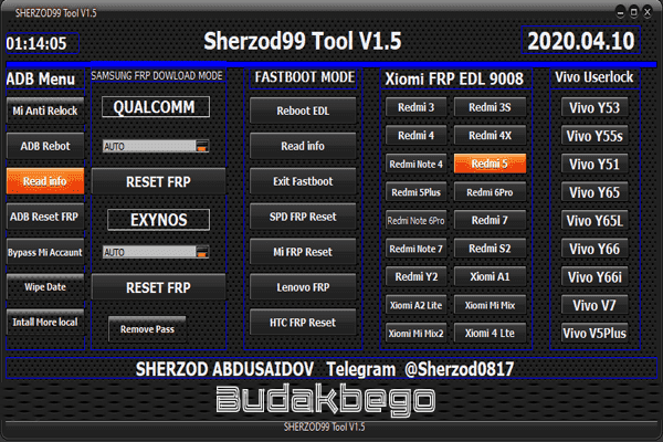 Sherzod99 Tool Versi 1.5 Solusi Terbaik Buat Mengatasi FRP