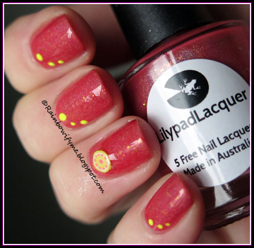 Lilypad Lacquer: Chip Off The Old Hollyhock, Not faded!
