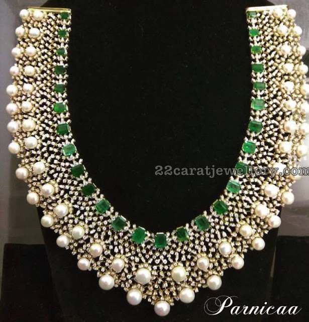 South Sea Pearls Studded Diamond Set