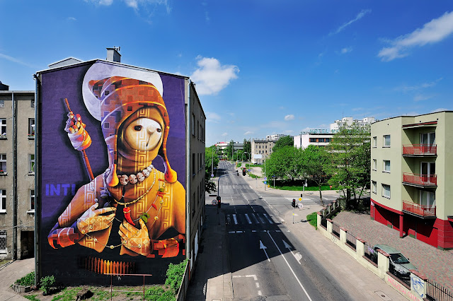 Street Art By INTI in Lodz, Poland