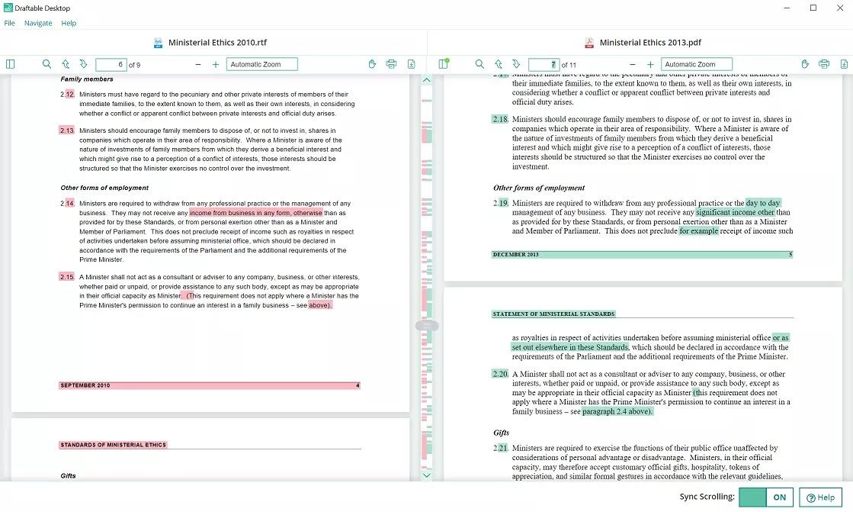 تحميل برنامج Draftable Desktop 2.2.900 لمقارنة عدد كبير من الصفحات واستخراج الاختلافات