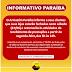 26/06/2020 COMUNICADO: As lojas do Paraíba fecham neste sábado (27/06), abrindo na segunda(29)