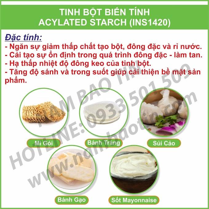 Tinh Bột Biến Tính Acetylated INS1420