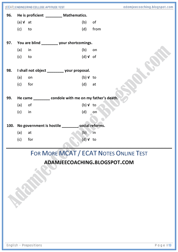 ecat-english-prepositions-mcqs-for-engineering-college-entry-test