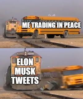 Elon Musk Tweet and Bitcoin meme