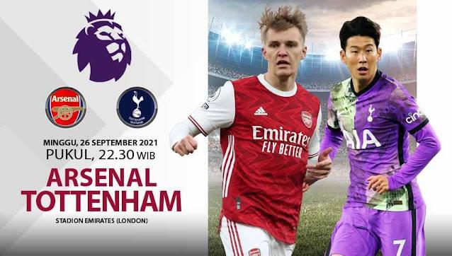 Link Live Streaming Liga Inggris : Arsenal vs Tottenham Hotspur