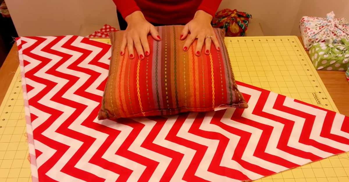How To Make A No-Sew Pillow Covering