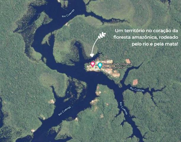 Localização da comunidade indígene Baré Amazônia