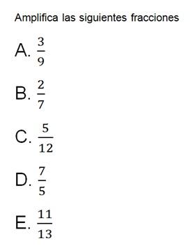 Matematicas 601 Moralba Fraccionarios