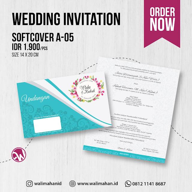 Undangan Pernikahan Softcover A05 - Walimahanid | 0812-1141-8687