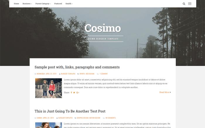 Cosimo Blogger template Pro version