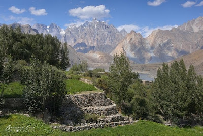 Ramla Akhtar, aka Rmala Aalam, lives in Hussaini.It is a peaceful wakhi village of Gojal.It is internationaly famous for its bridge and its magnificent view over Hunza River and Passu Cones