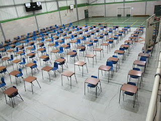 image of exam hall in school gym
