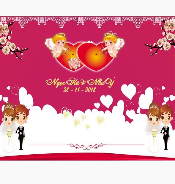Phông trang trí tiệc cưới
