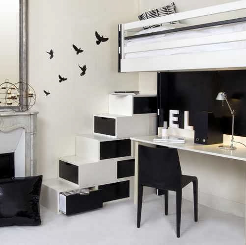 black & white interior design