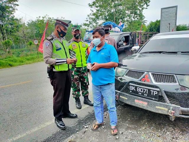 Ops Yustisi Diwilayah Simalungun Dilaksanakan Personel Jajaran Kodim 0207/Simalungun Bersama Dinas Terkait