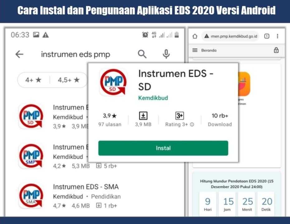 Cara Instal Aplikasi Android EDS 2020 Covid