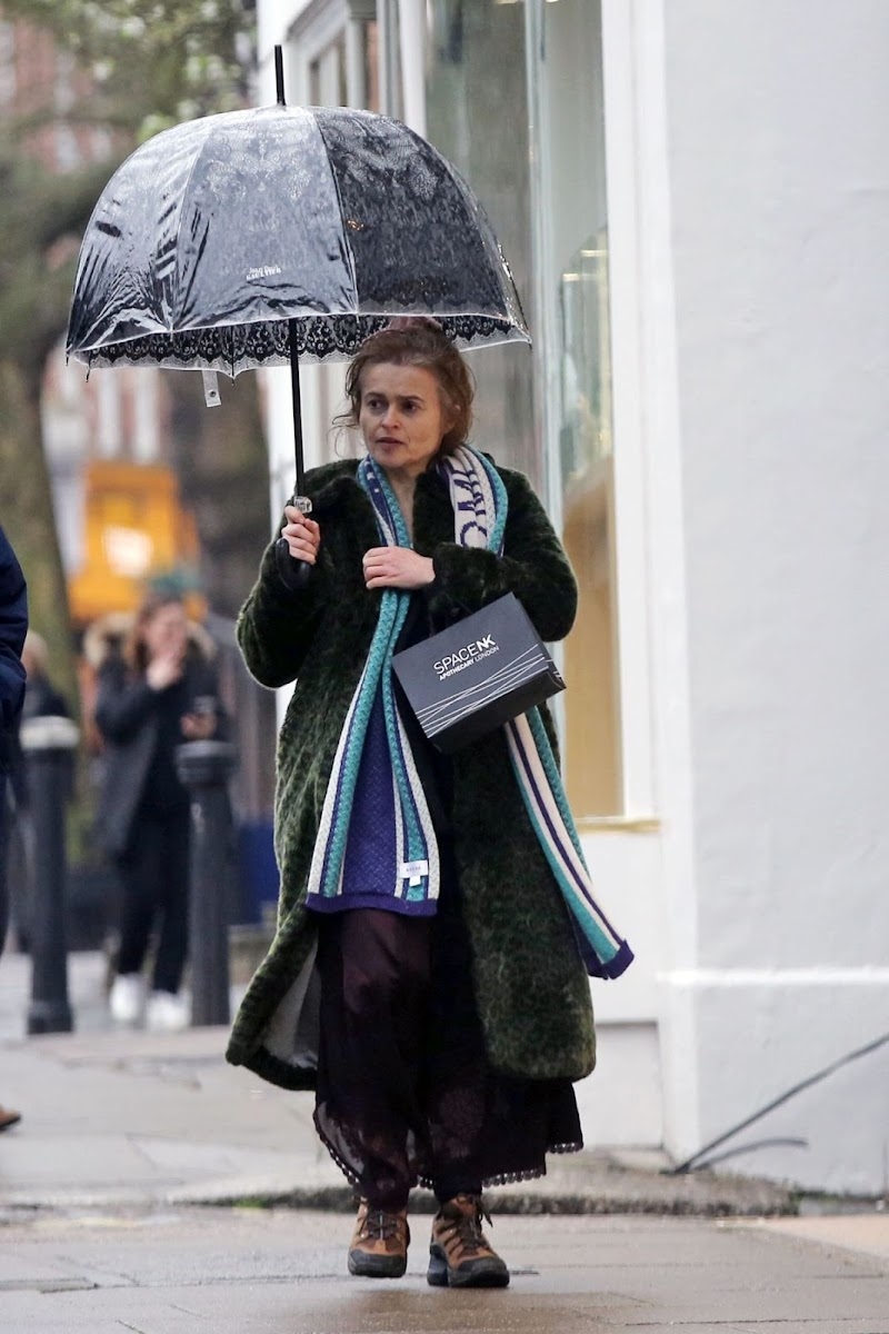 Helena Bonham Carter Clicked Outside in London 19 Mar -2020