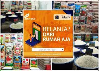 pedagang sembako Pasar Jaya Jkt Pusat yang terima pesan antar