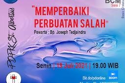 Persekutuan Doa Online Senin 19 Juli 2021