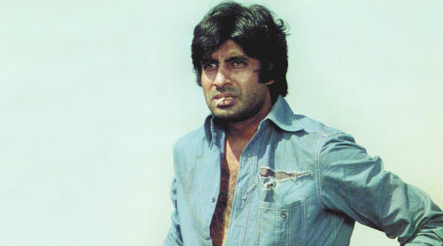 Amitabh Bachchan as Vijay in the 1975 Bollywood blockbuster Deewar