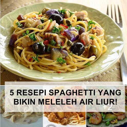 5 Koleksi Resepi Spaghetti Bikin Meleleh Air Liur!