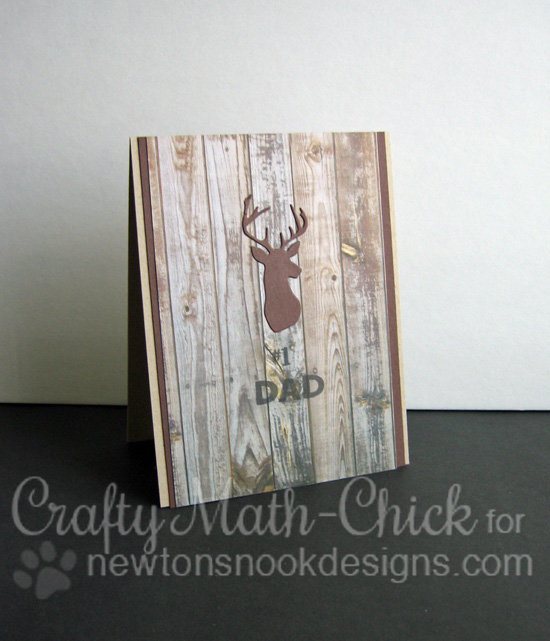 Dad Deer Card by Crafty Math-Chick | Splendid Stags Die set by Newton's Nook Designs #newtonsnook