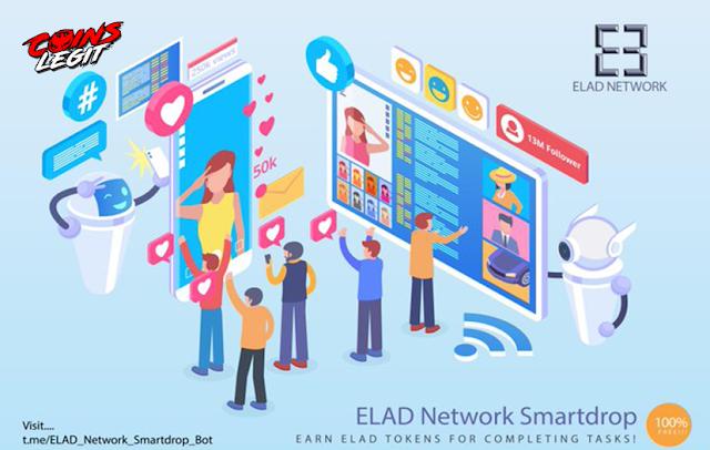 Airdrop Legit Elad Network - Free 70 ELAD Estimate $5.74